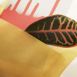 Конверт из кальки золотого цвета