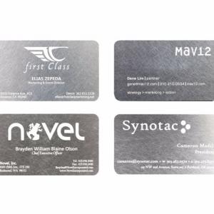 Необычные визитки из металла