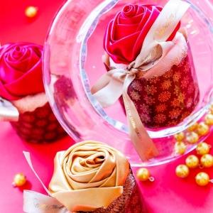 Бисквит из махрового полотенца с цветком