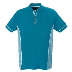 Мужская рубашка поло бирюзового цвета