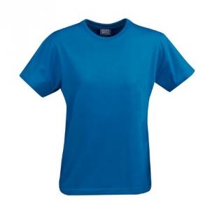 Синяя футболка приталенная