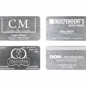 Корпоративные визитки из металла