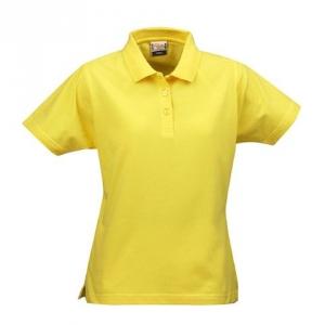 Женская рубашка поло желтого цвета