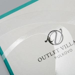 Фирменная папка-буклет с логотипом